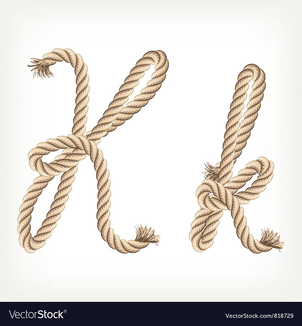 Rope alphabet letter k