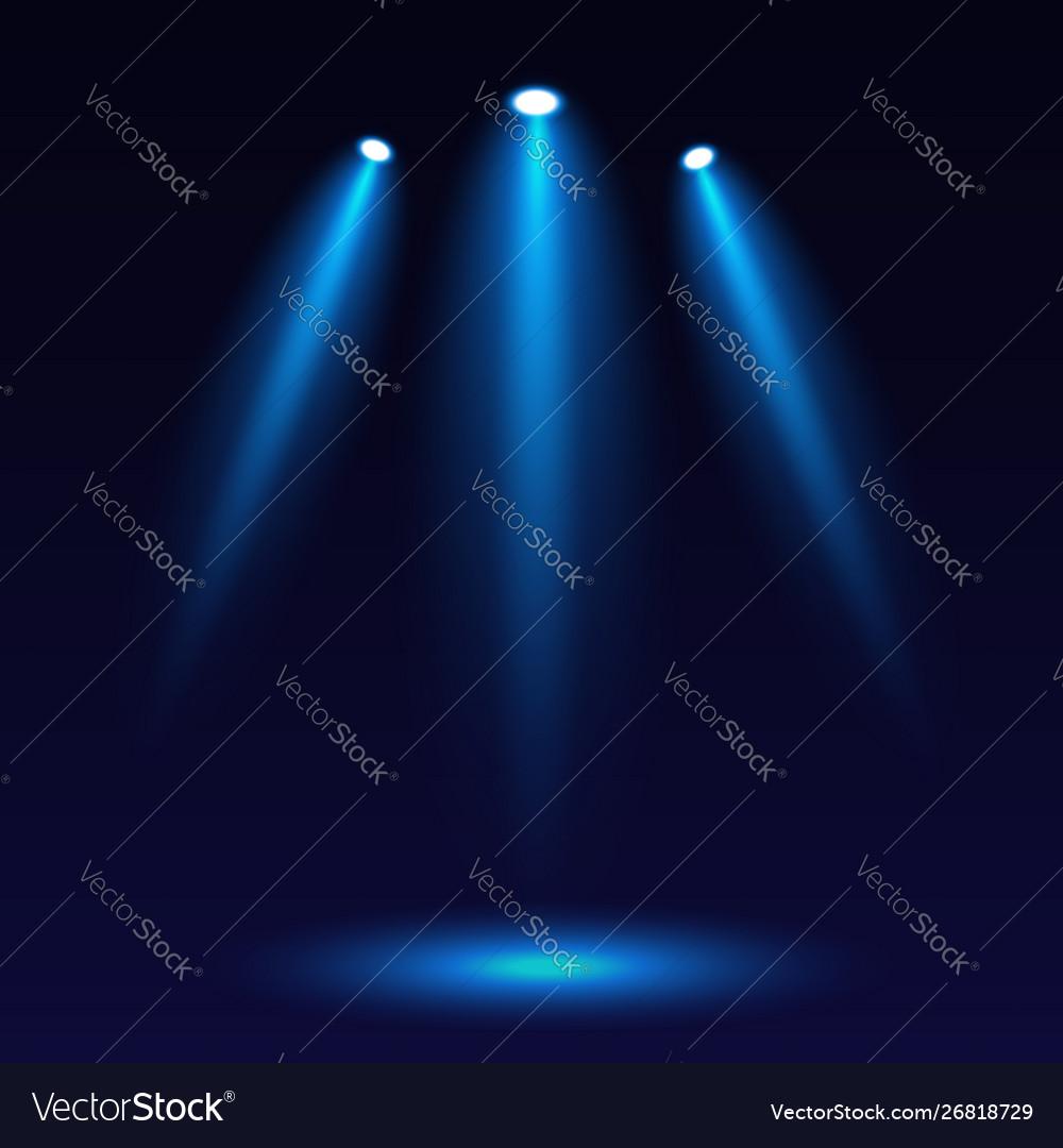 Scene illumination on a dark background bright