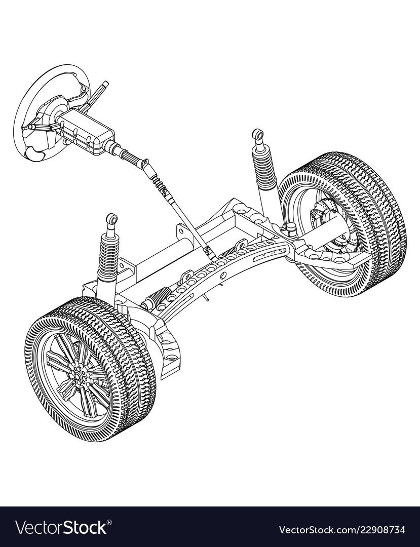 3d model of steering column