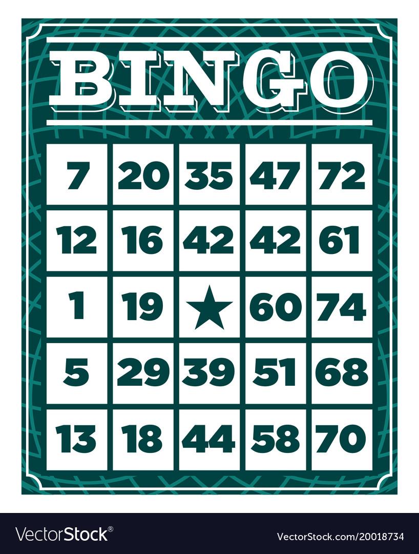 Bingo retro vintage card