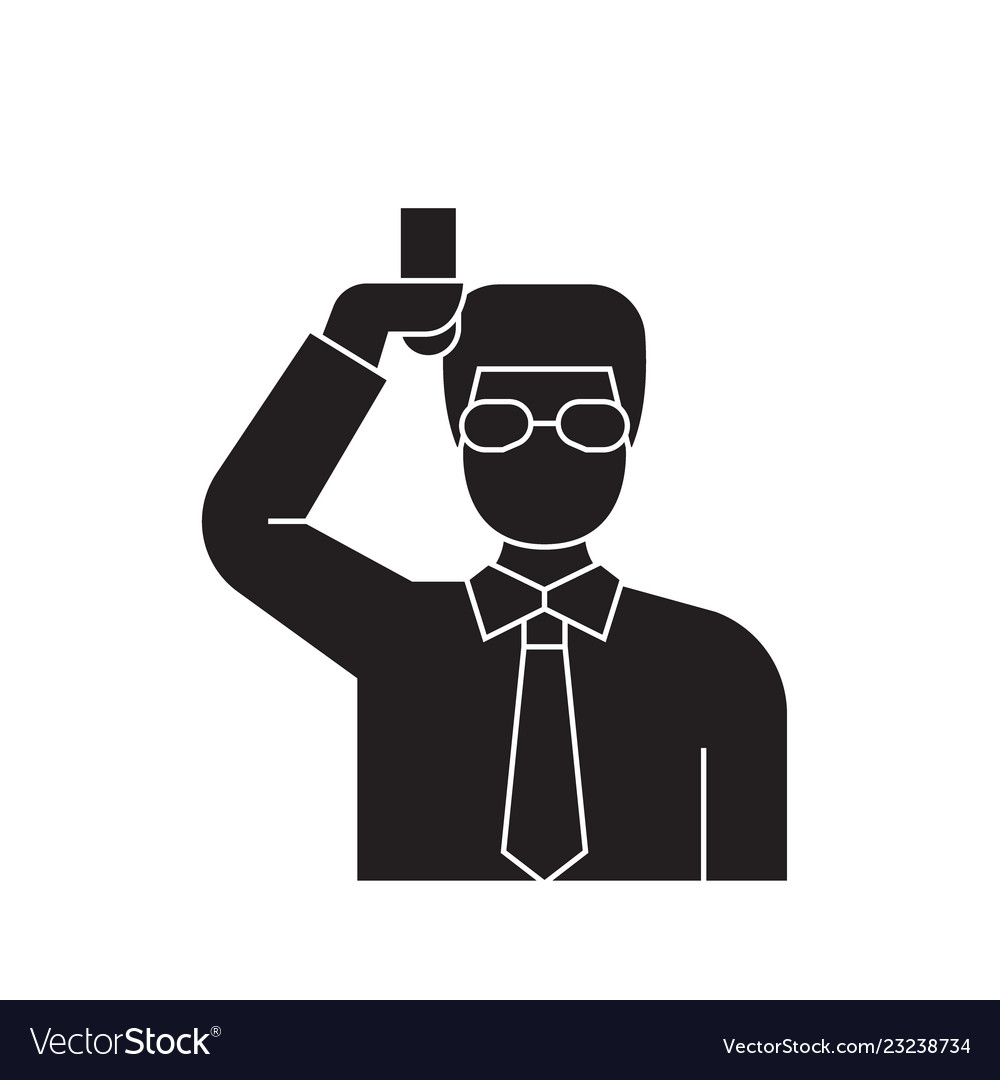 chemist scientist black concept icon royalty free vector vectorstock