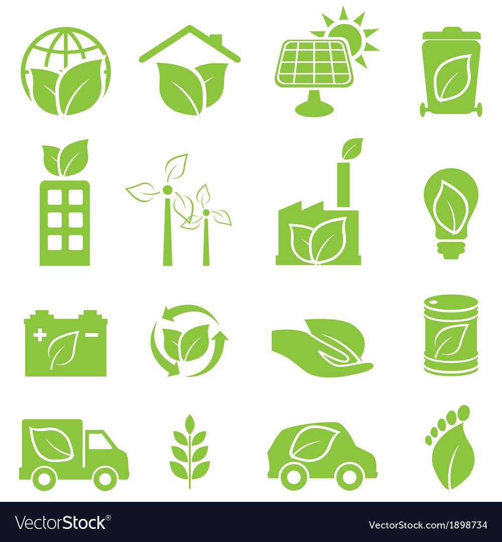 Eco Friendly And Environmental Icons
