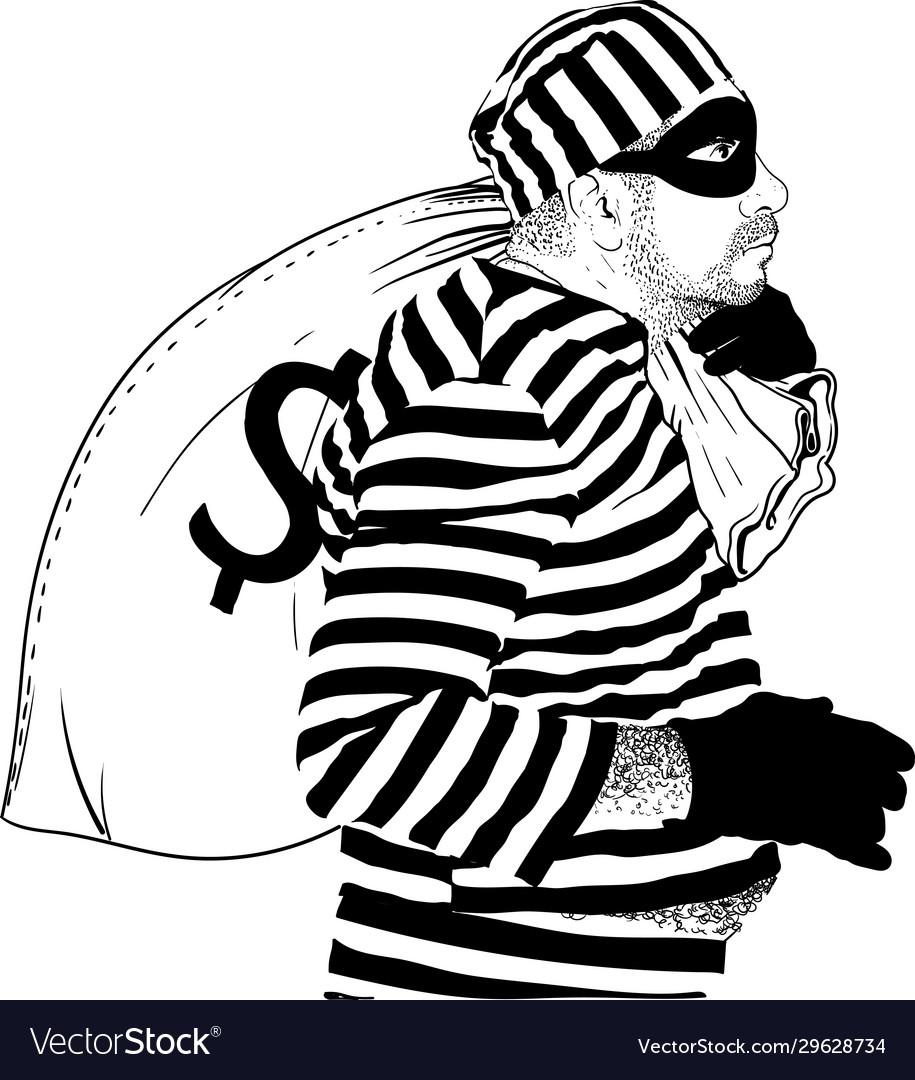 Funny fat thief