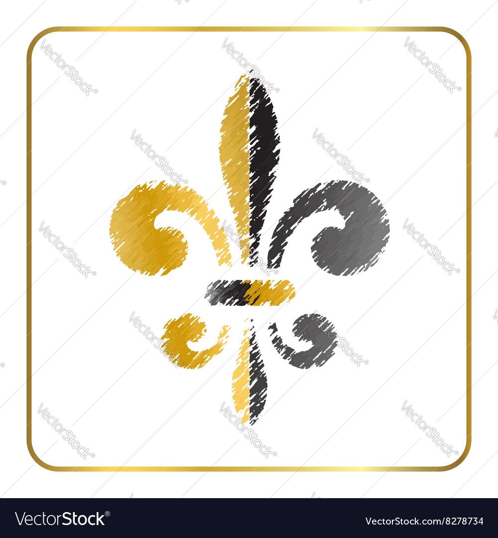 Golden fleur-de-lis heraldic emblem 4
