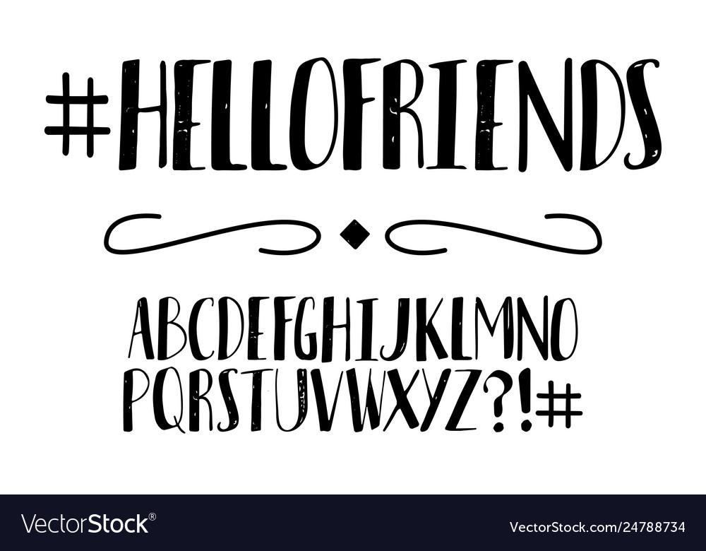 Handwritten alphabet font