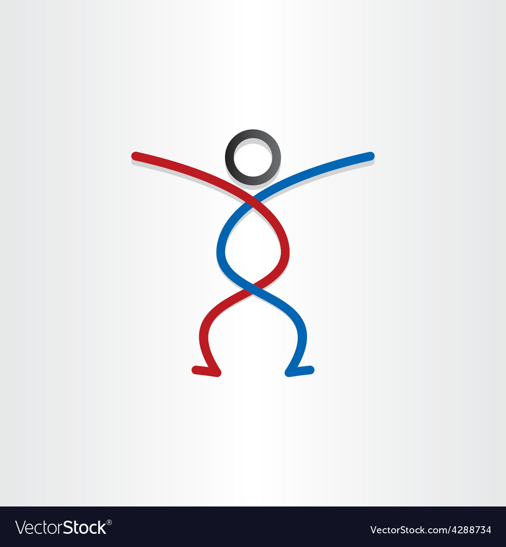Man with lines design element vector image