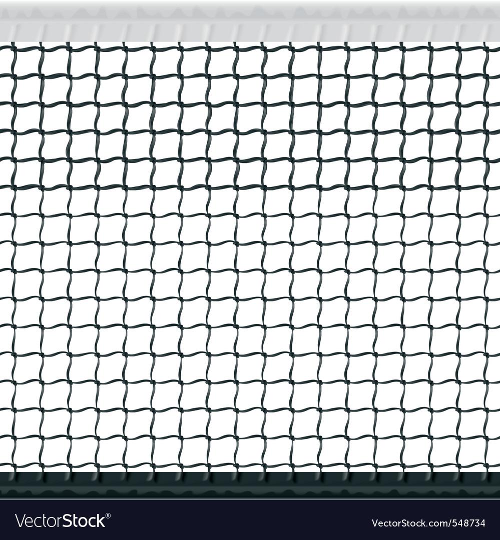 Seamless tennis net