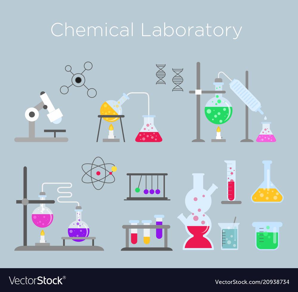 Set of chemical laboratory