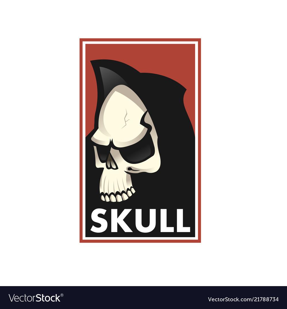 Skull logo icon or skull of skeleton
