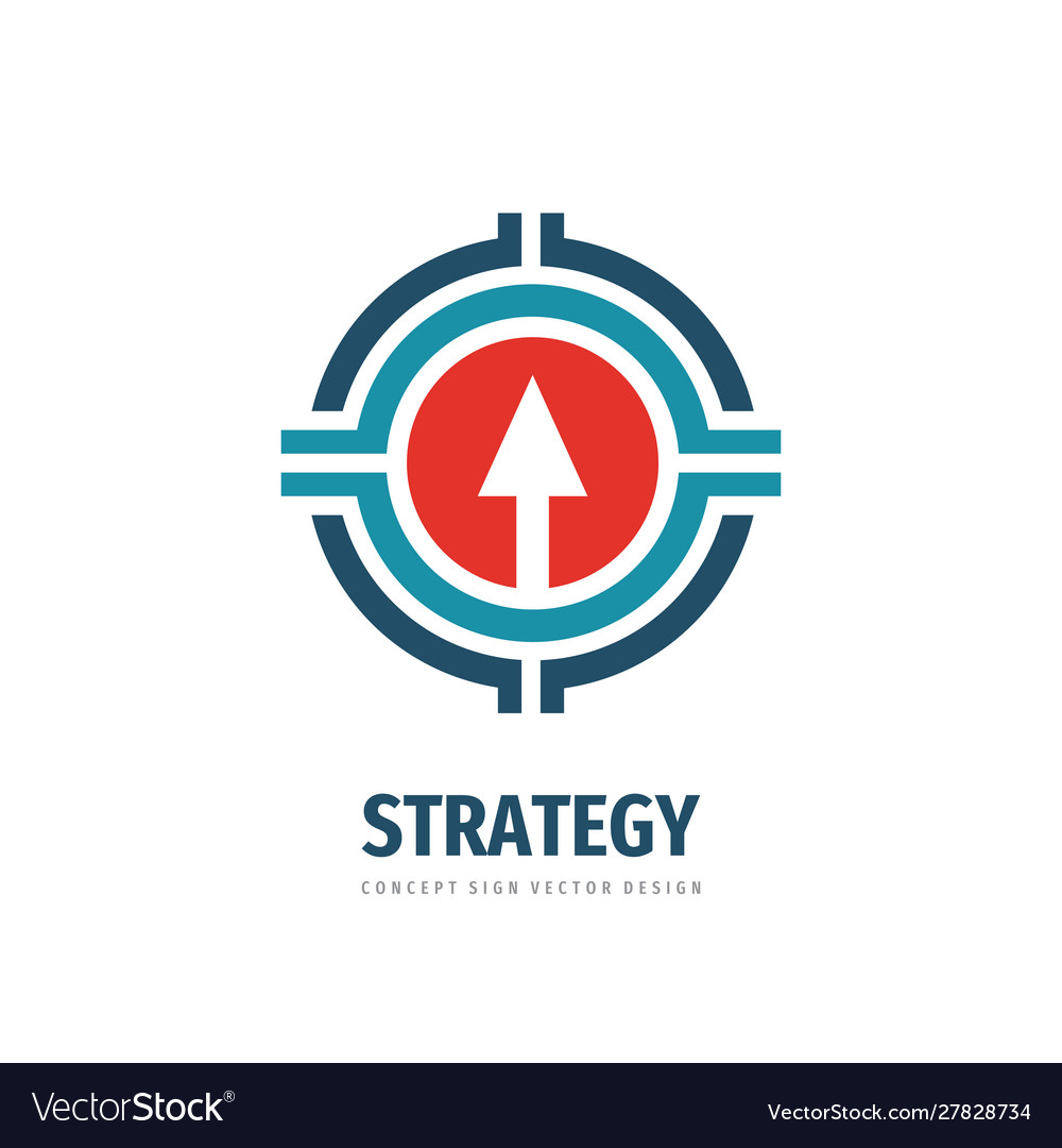 Strategy business logo tempate design arrow