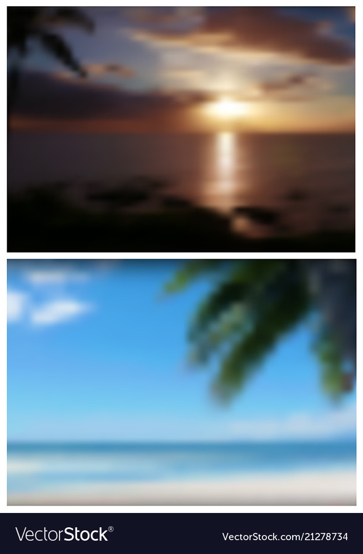 Two blurred tropical backgrounds