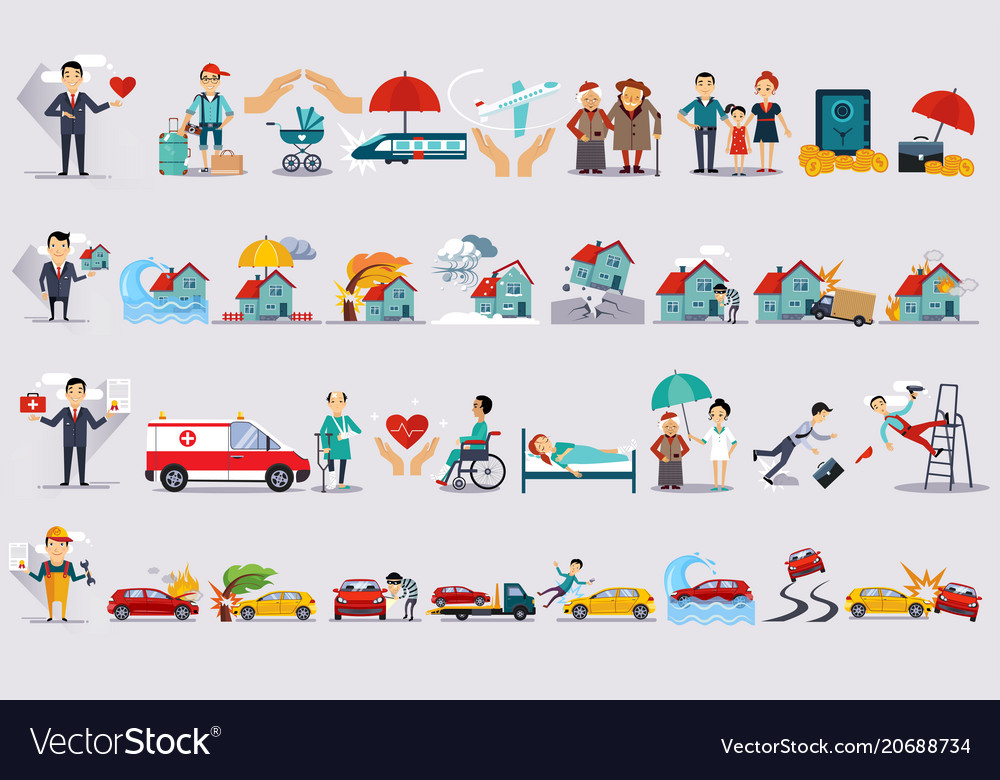 Various types of insurance set insurance of life