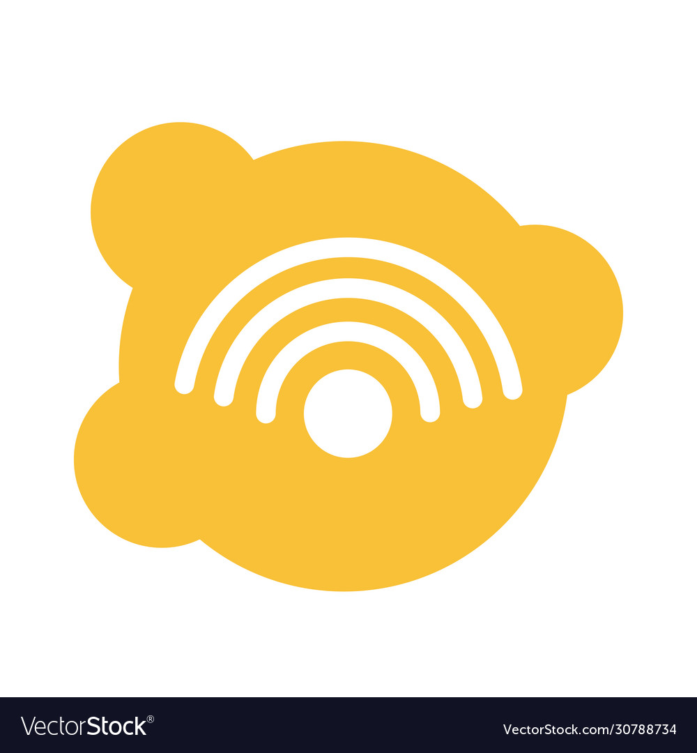 Wifi Connection Signal Block Style Icon Royalty Free Vector