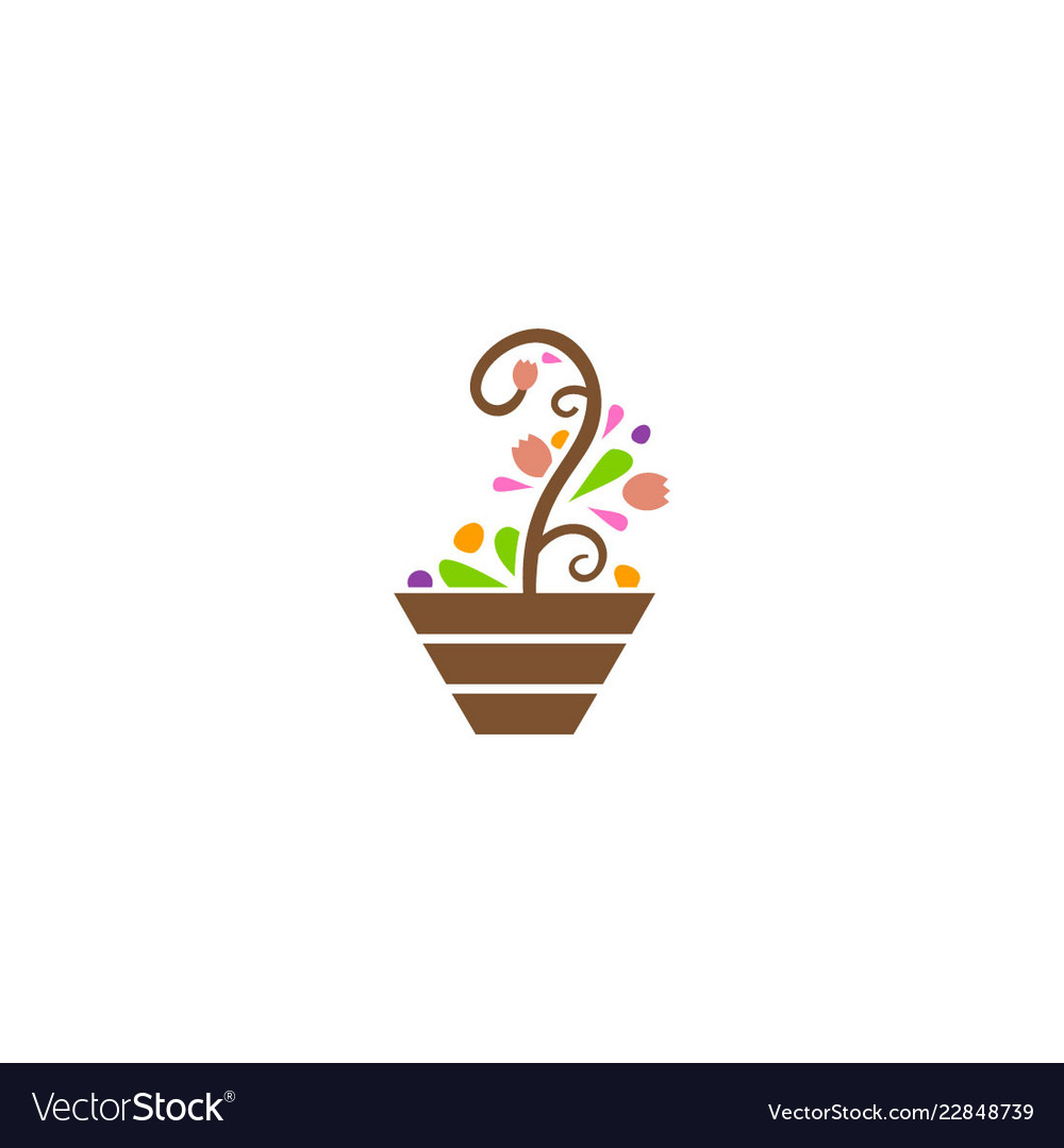 Abstract plant decorative logo