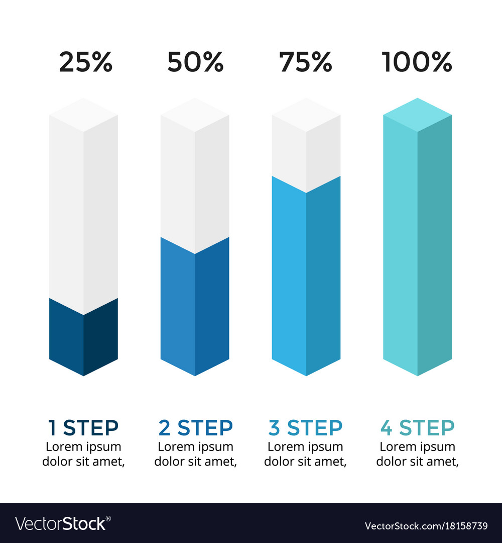 Arrows Infographic Diagram Chart 3d Royalty Free Vector