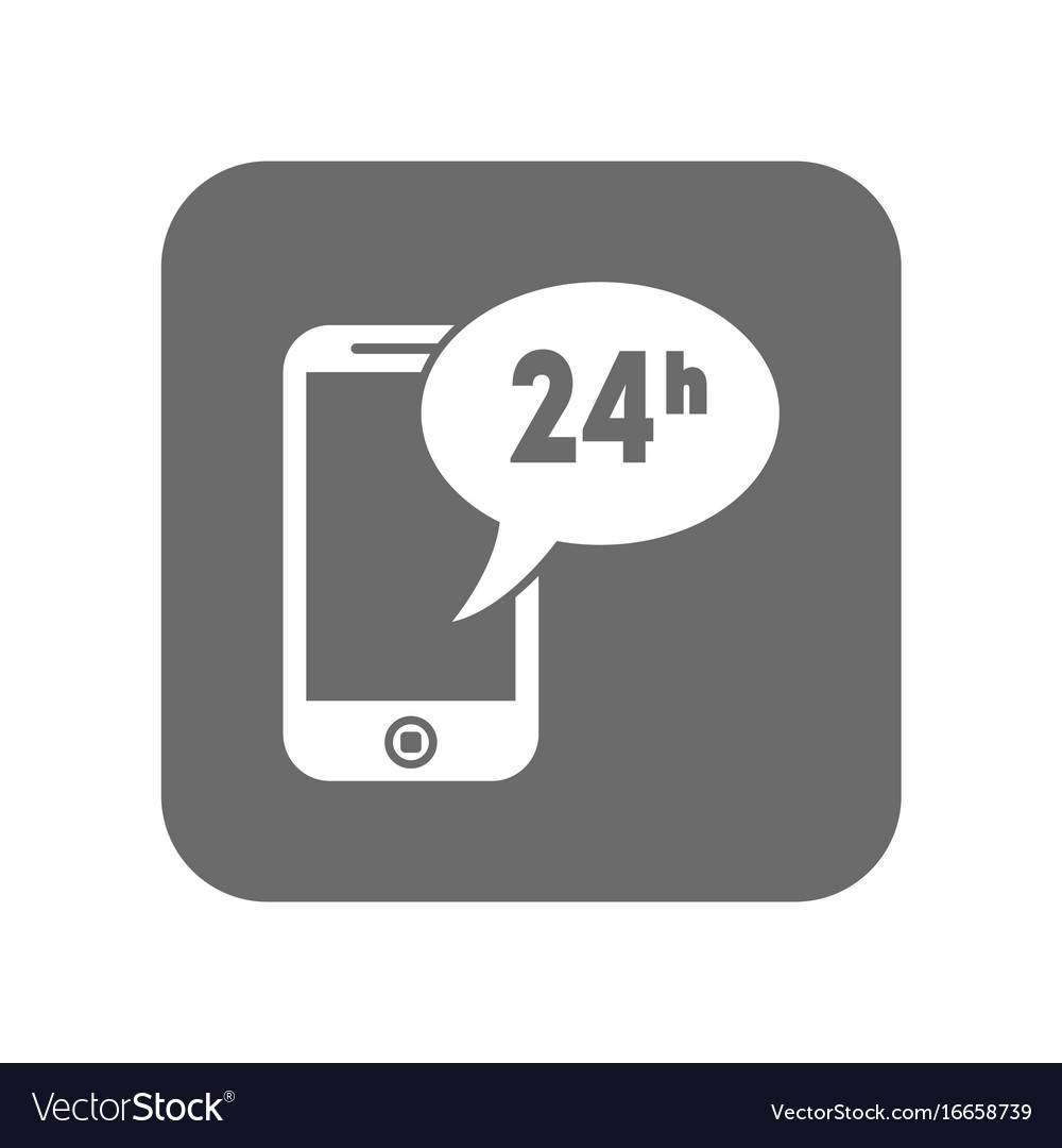 Customer service icon with smartphone