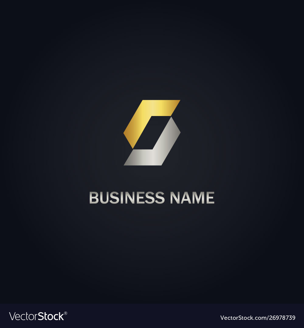 Gold s initial shape logo