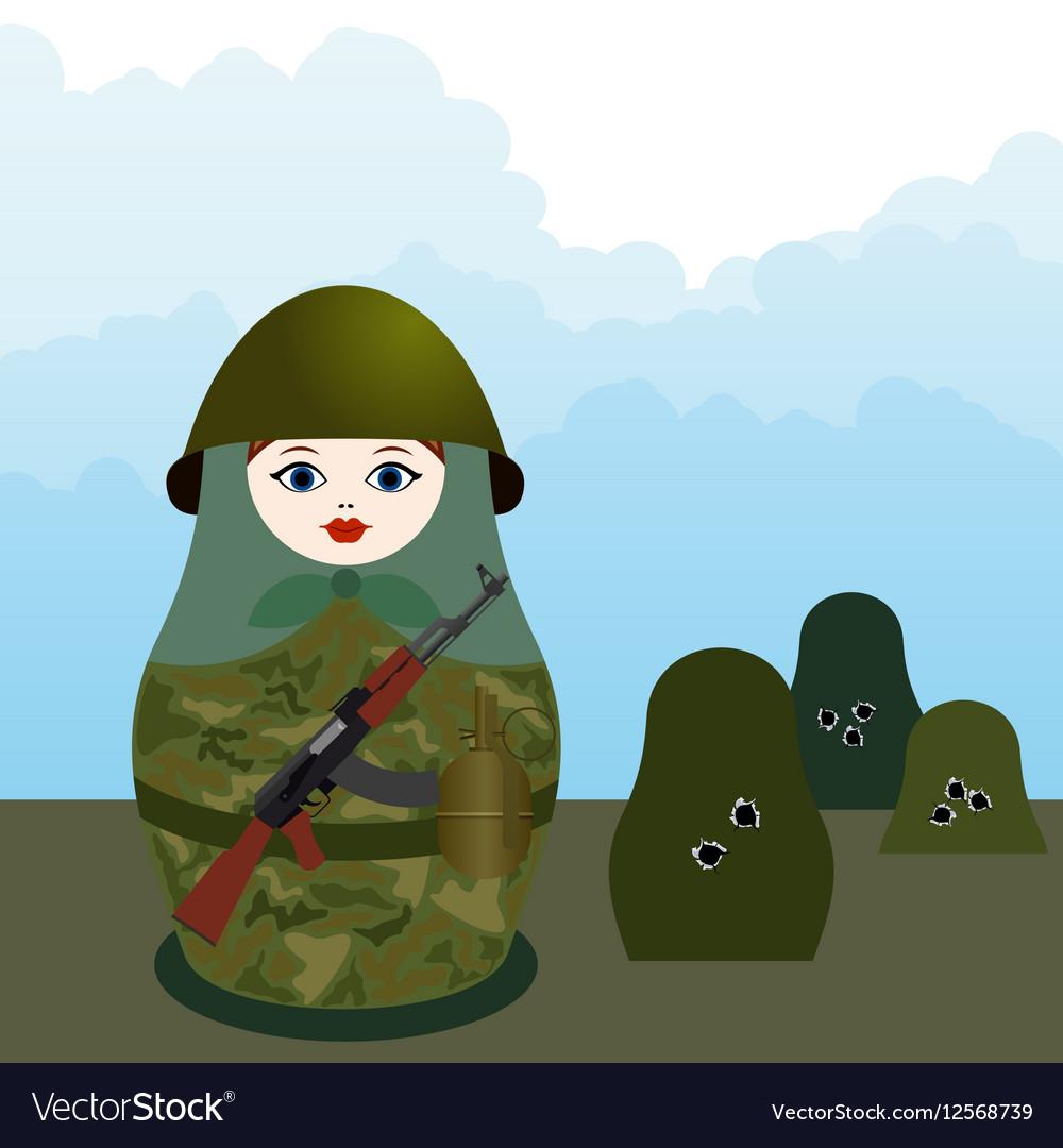 Matryoshka with a machine gun