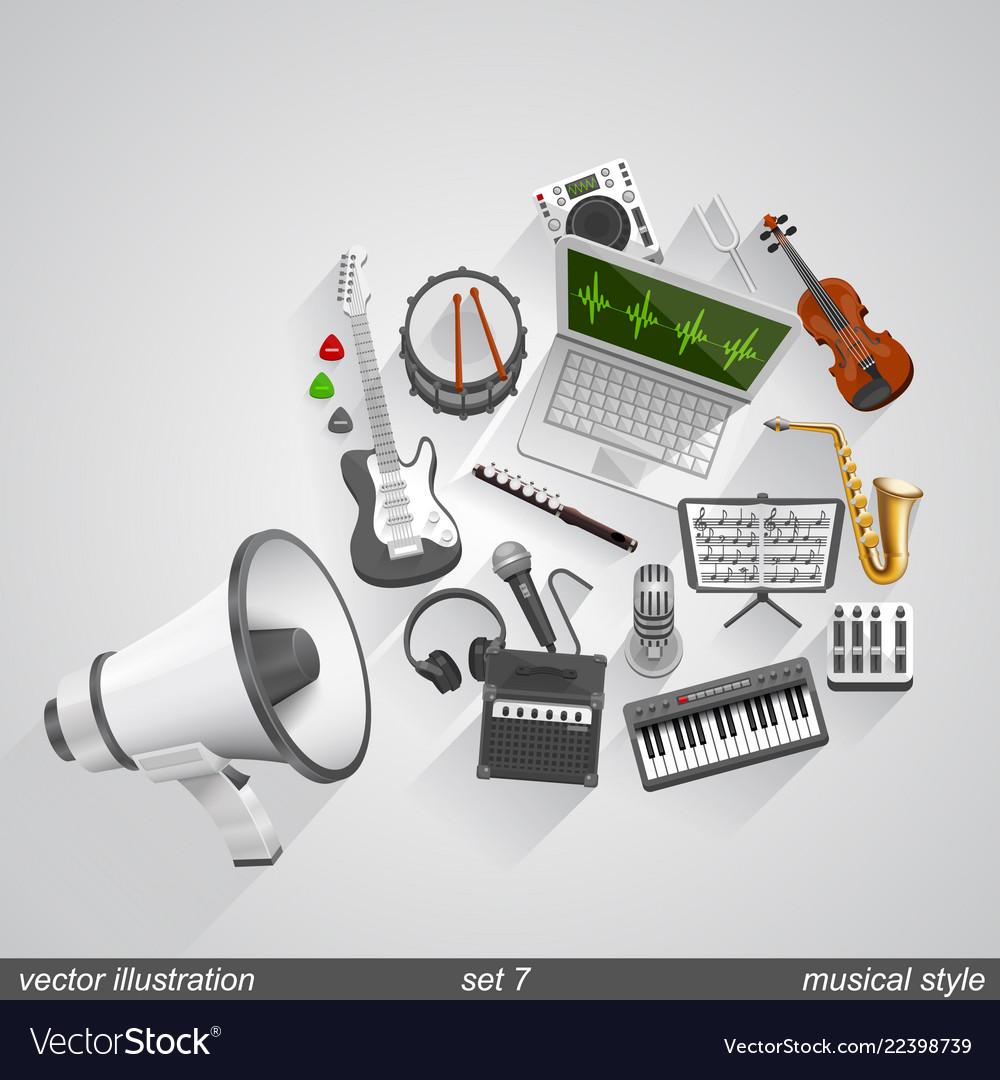 Megaphone musical style set 7