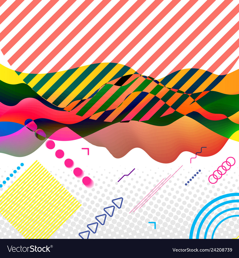 Modern abstract art collage in bright colors