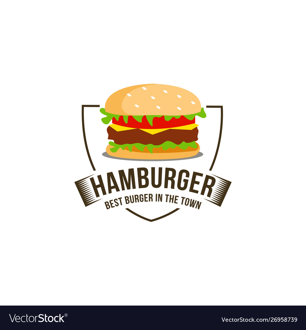 Vintage retro hipster hamburger burger logo