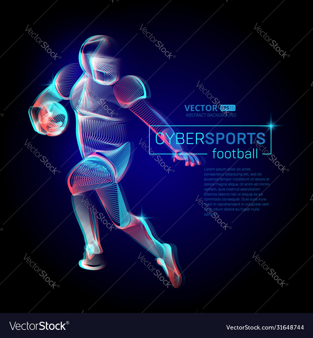 Abstract american football or rugplayer male
