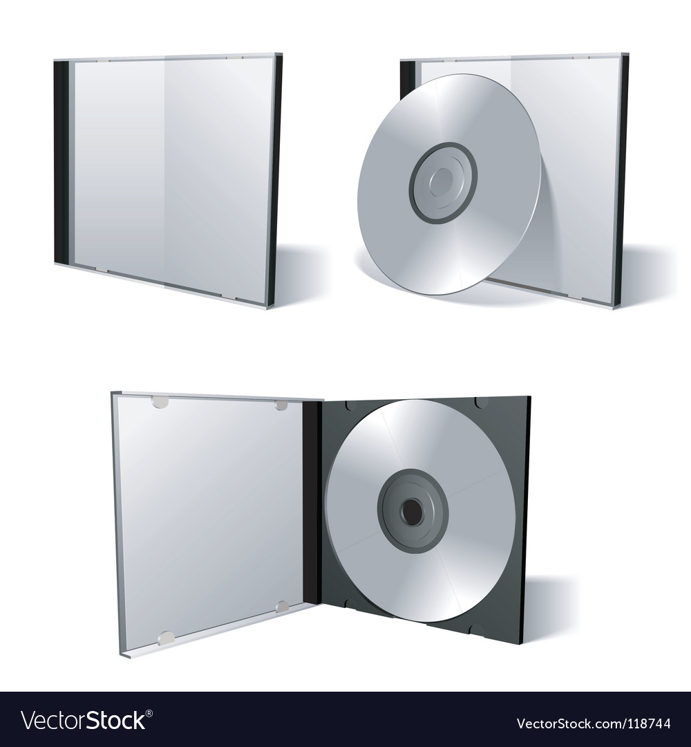 Cd dvd set vector image