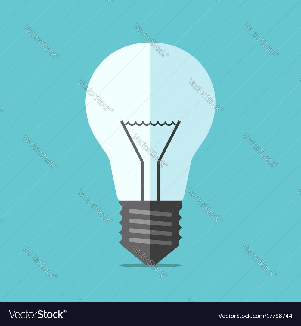 Flat style light bulb