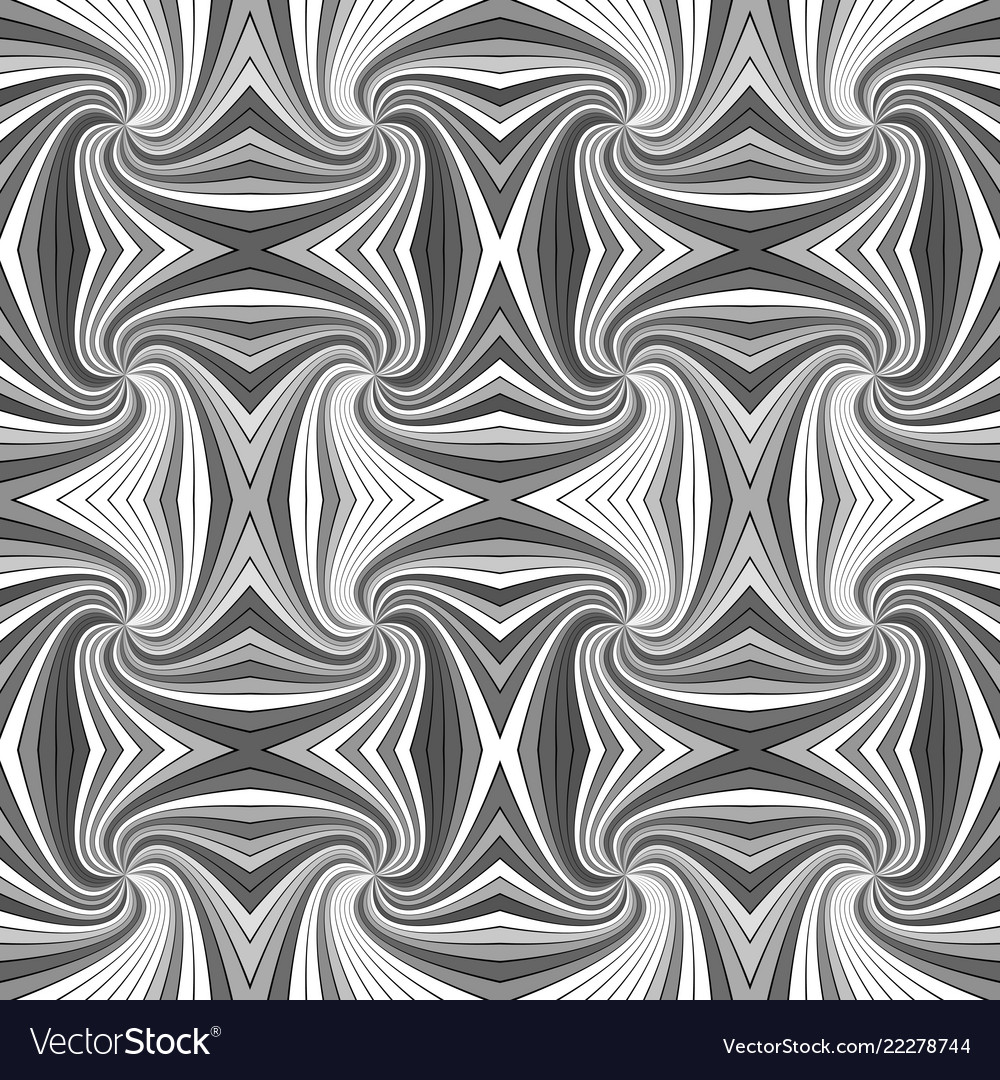 Grey psychedelic abstract seamless striped vortex