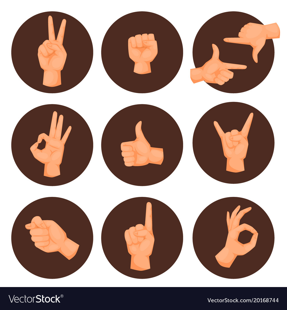 Hands deaf-mute gestures human pointing arm people