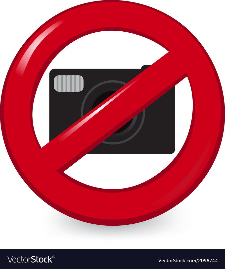 No Cameras vector image