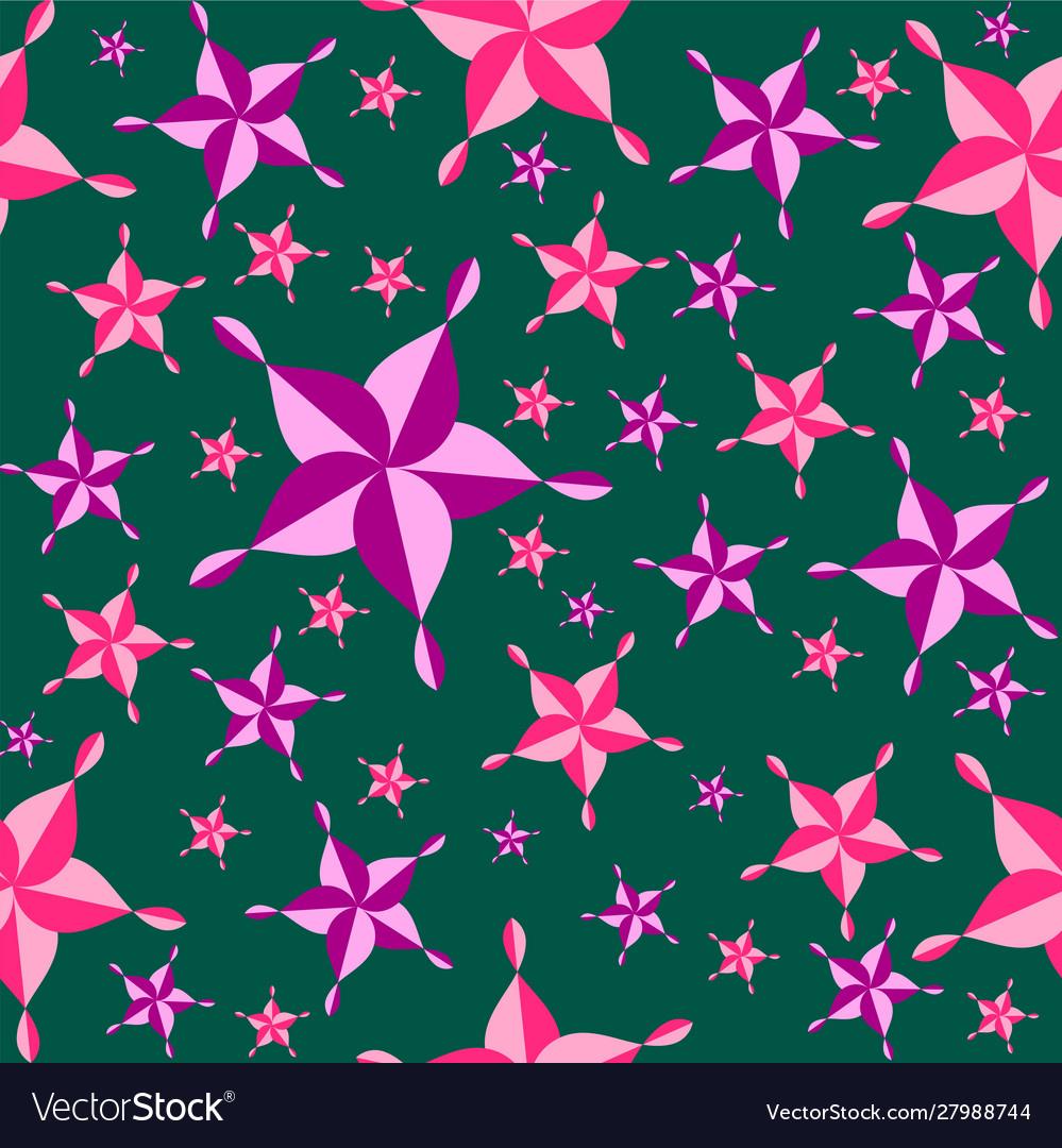 Seamless colorful pattern pink purple star