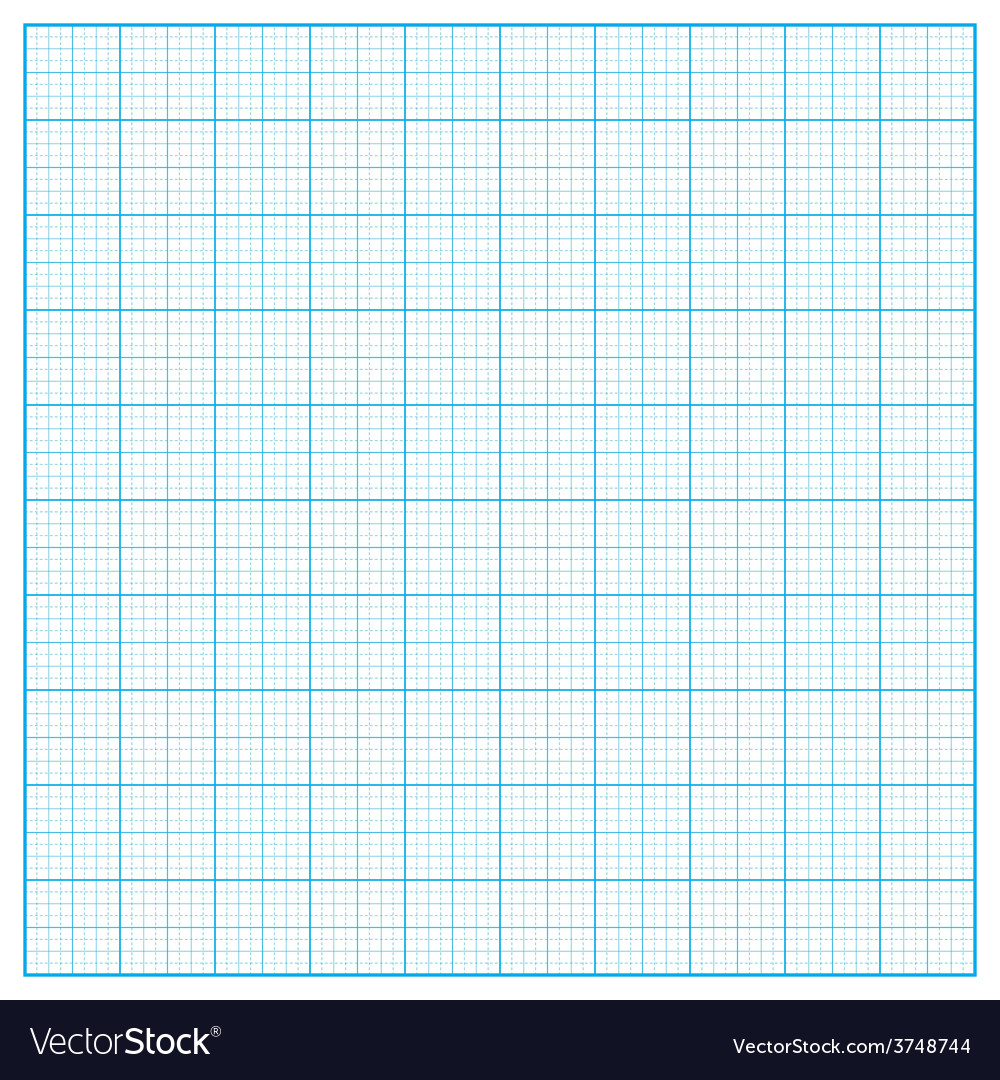 Square inch grid background vector image