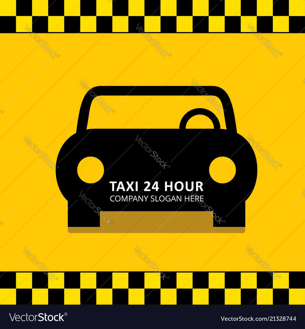 Taxi icon taxi service 24 hour serrvice black