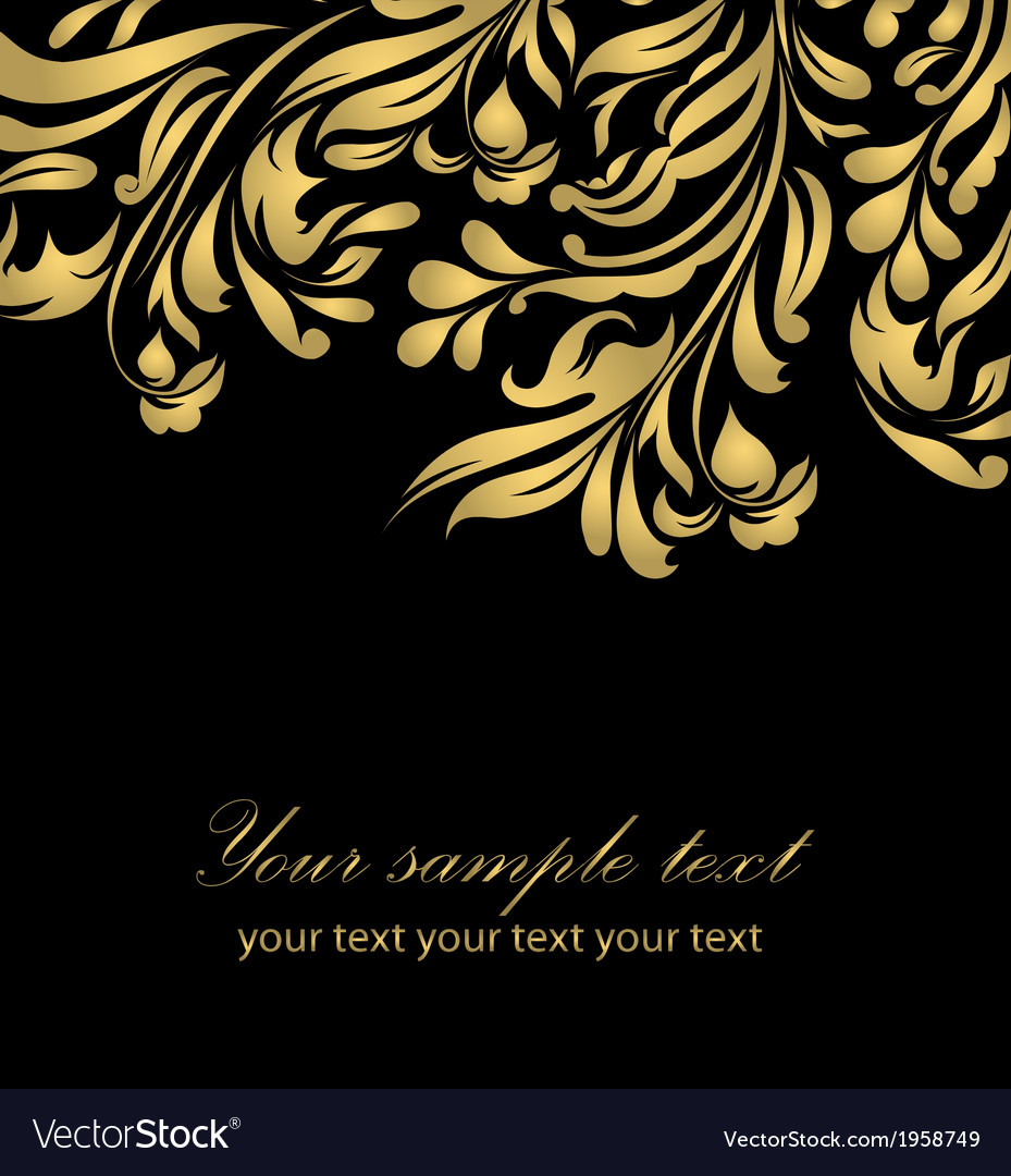 Abstract gold floral background vector image