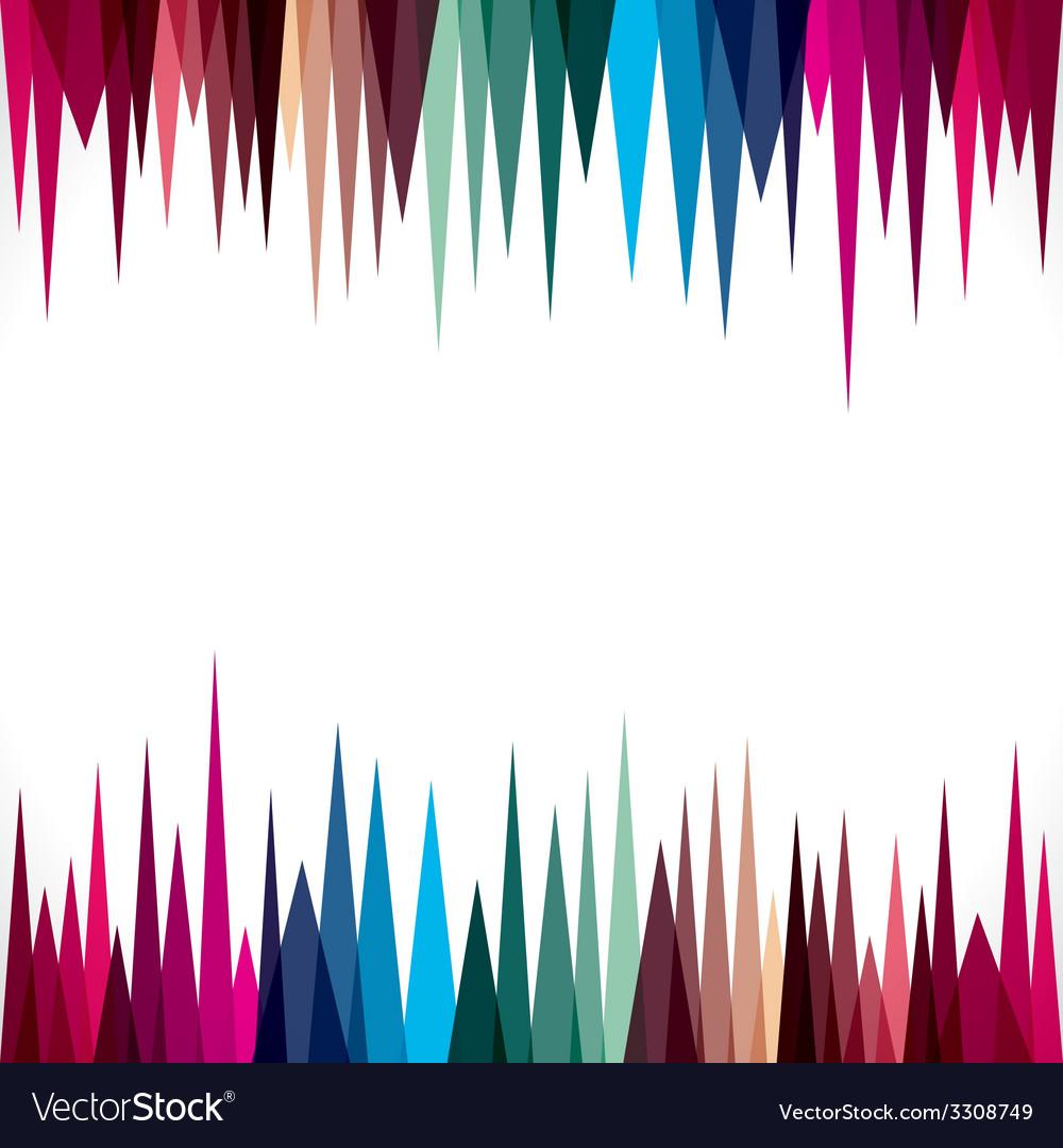 Abstract Triangular Border Design Stock