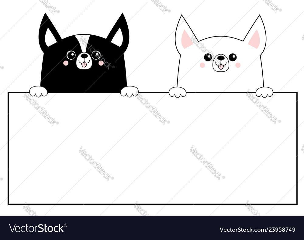 Corgi dog happy face head icon set hanging on