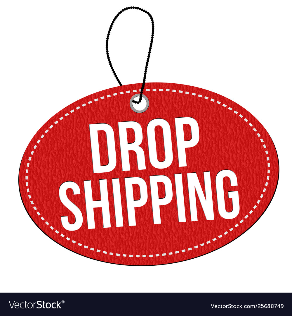 Drop shipping label or price tag