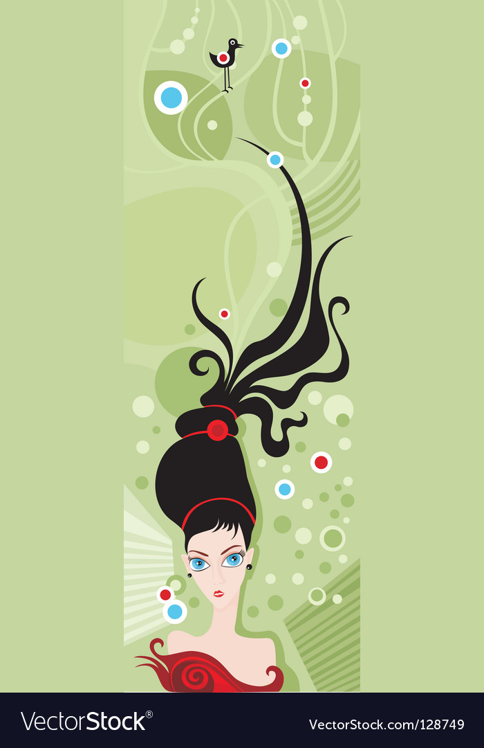 vector illustration of a hairstyle. Keywords: