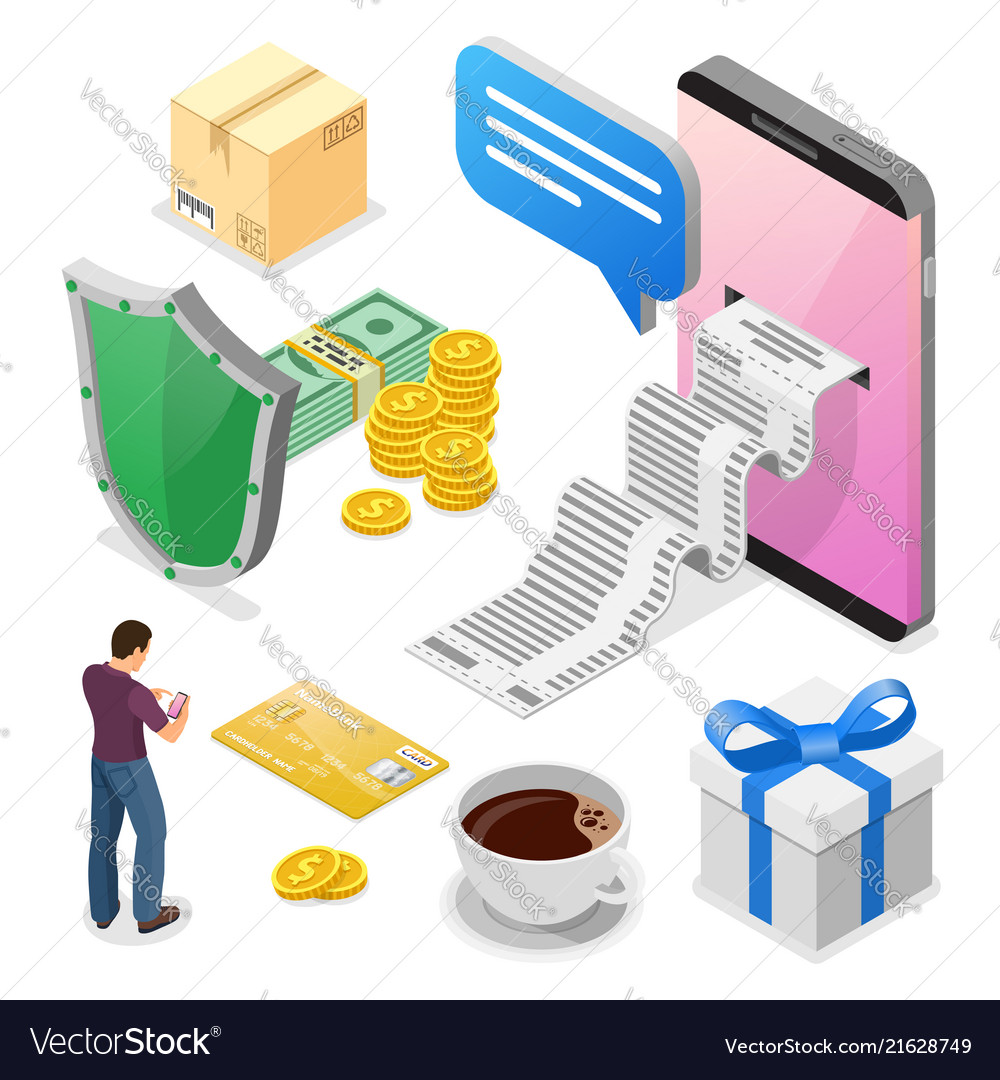 Internet shopping and online payments concept