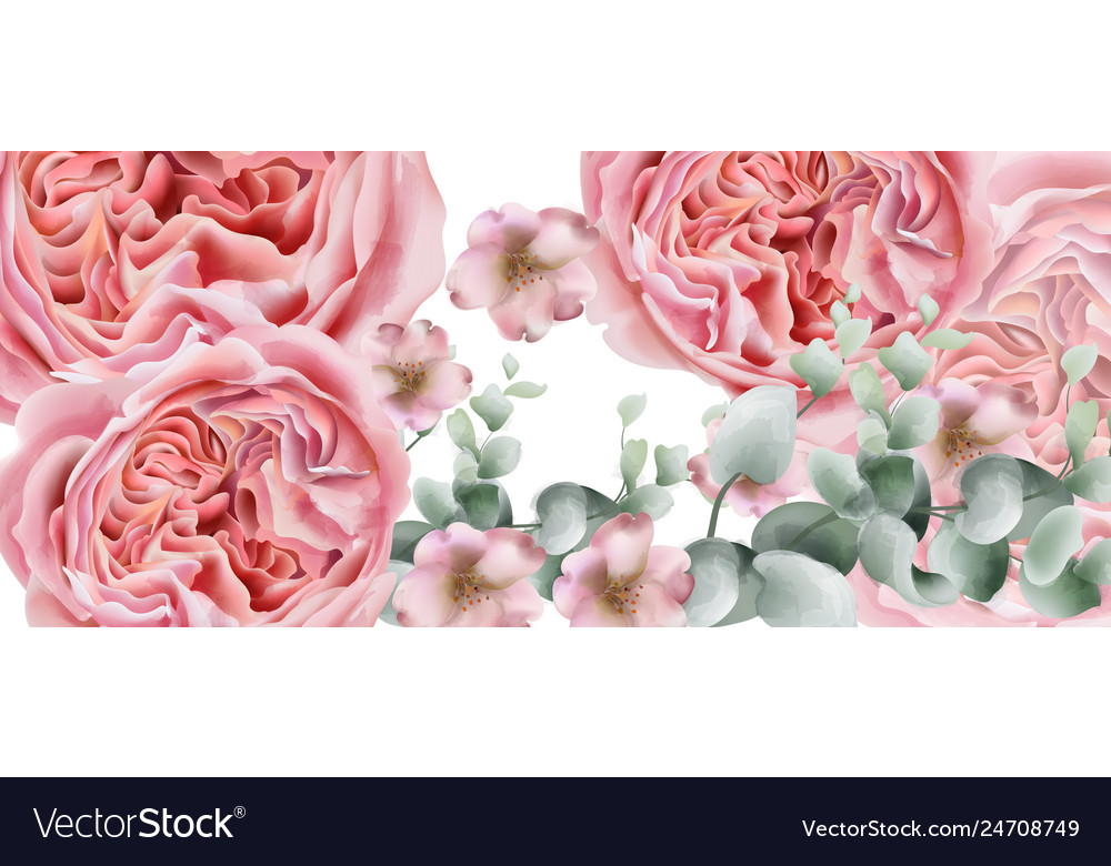 Peony flowers card watercolor colorful