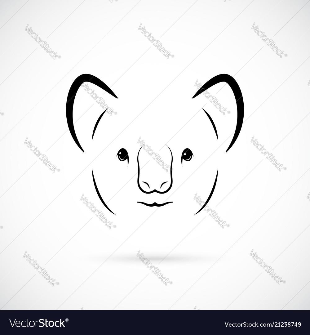 Portrait of cute koala bear line art animal icon