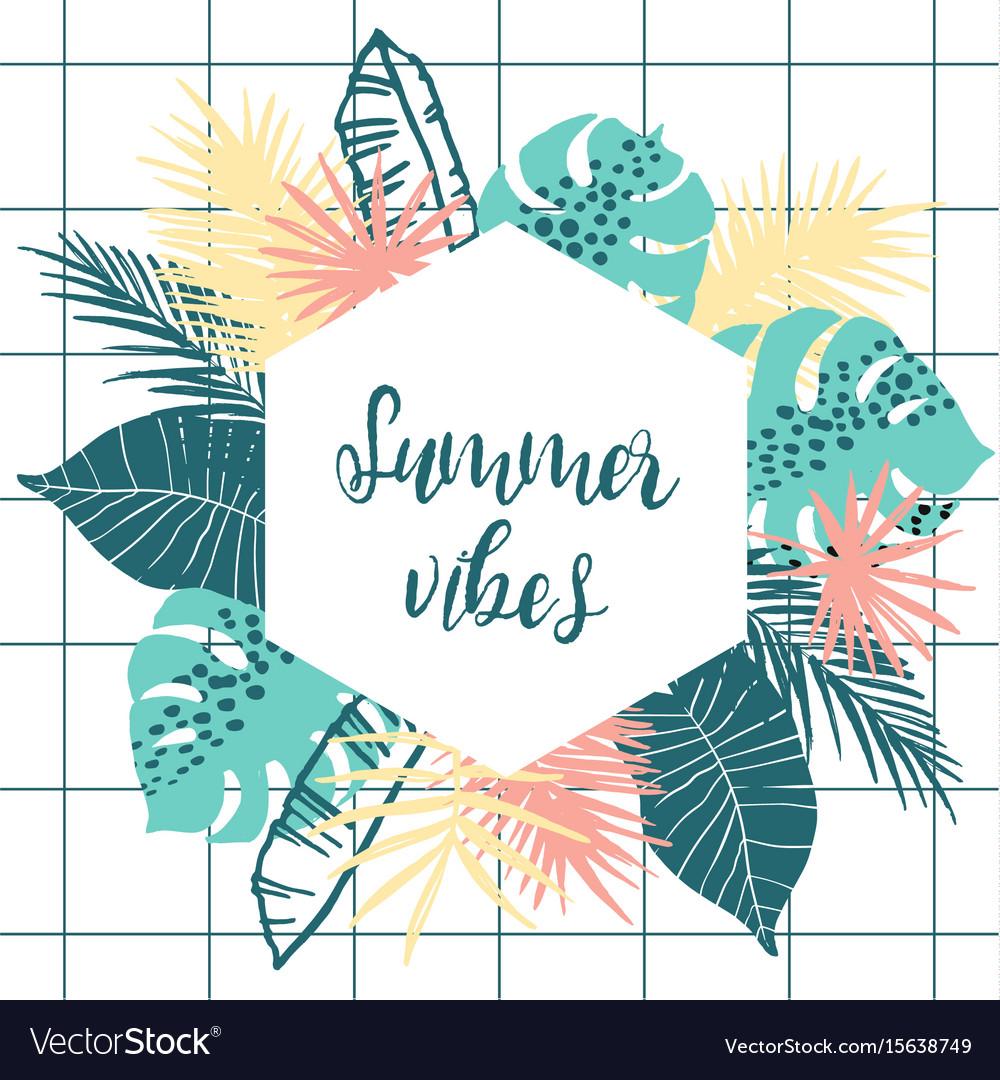 summer tropical design template design royalty free vector