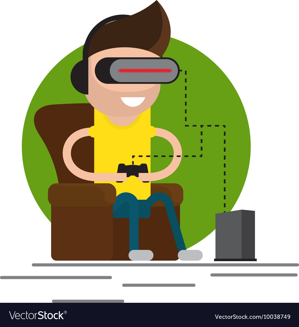 Vr gaming headset vector image