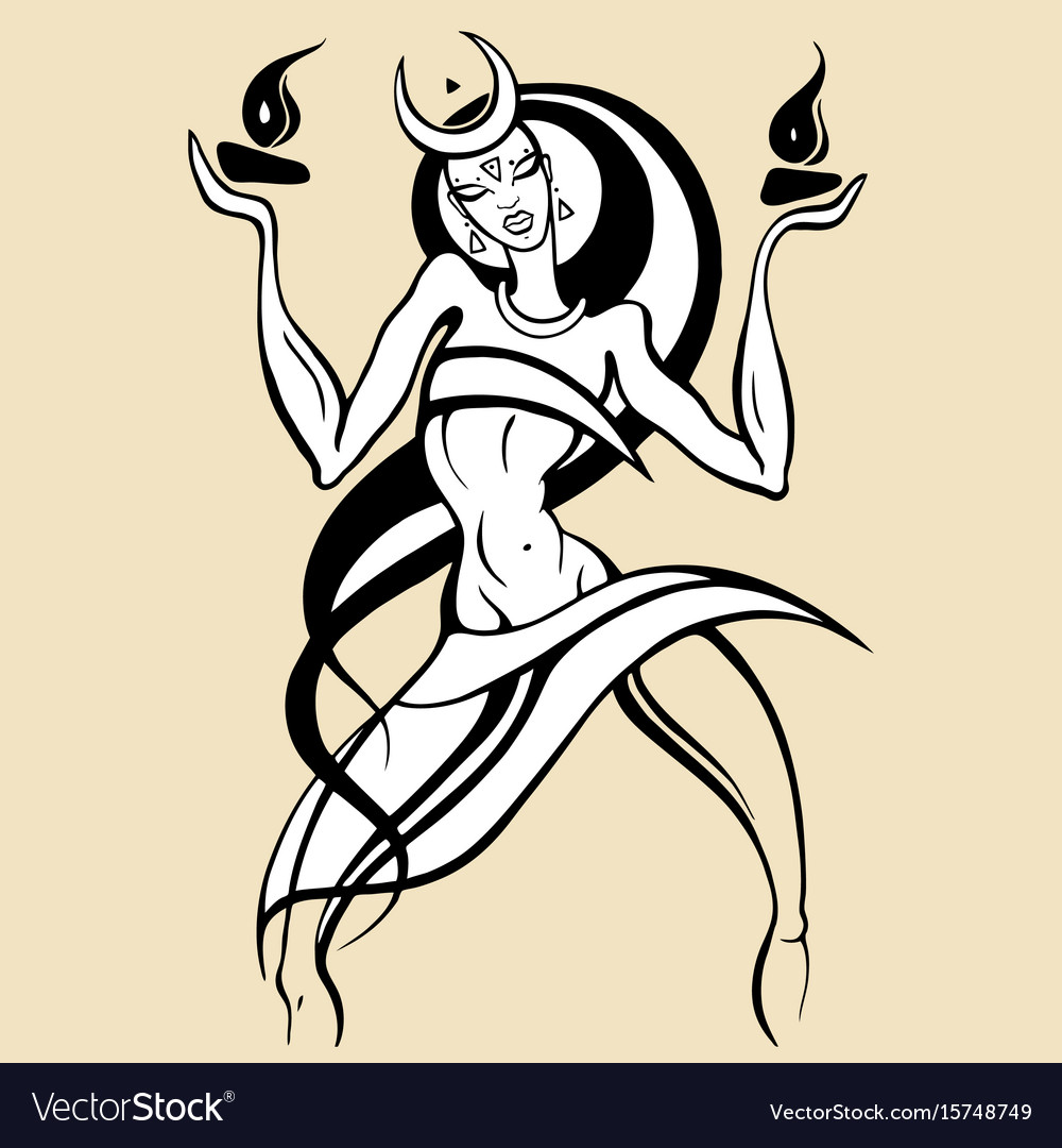 Woman dancing with fire