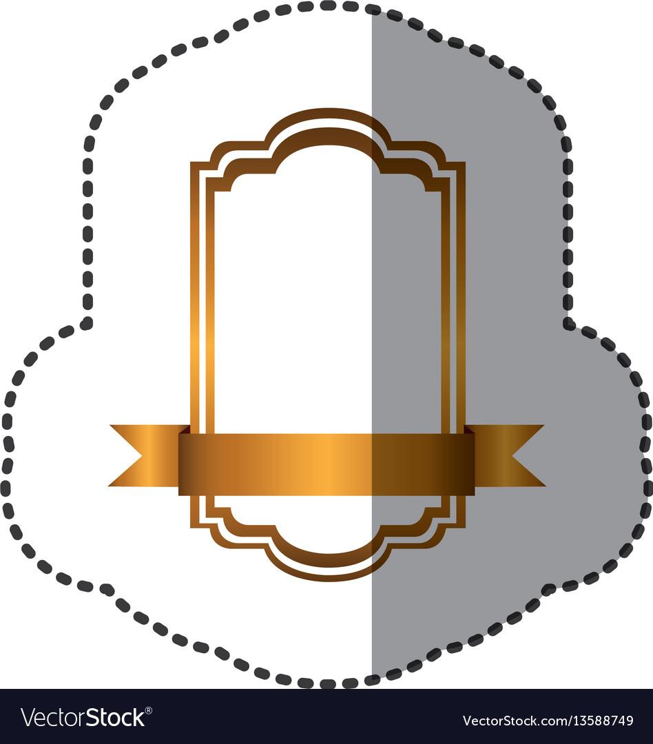 Yellow square emblem icon