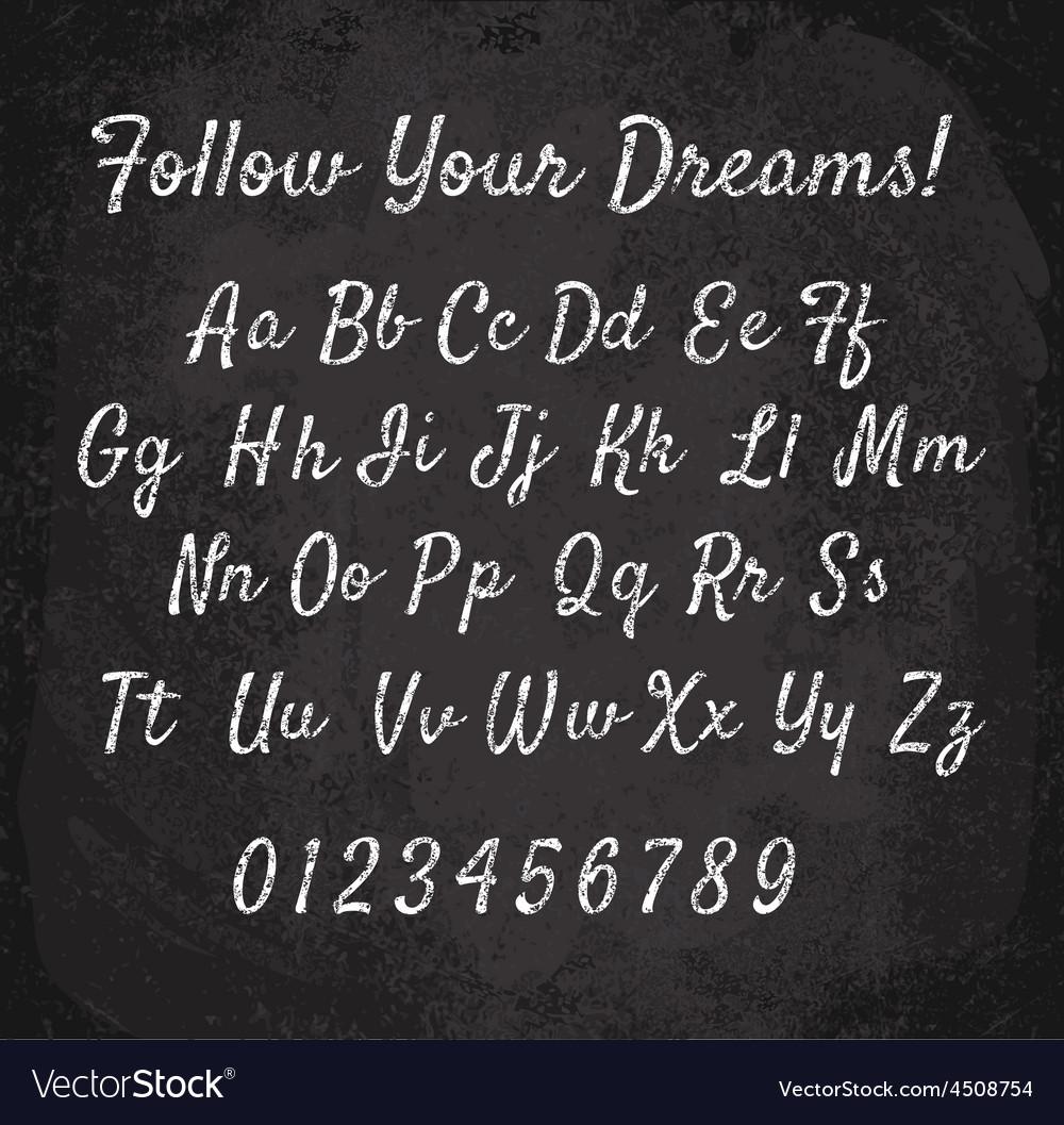 Chalked alphabet vector image