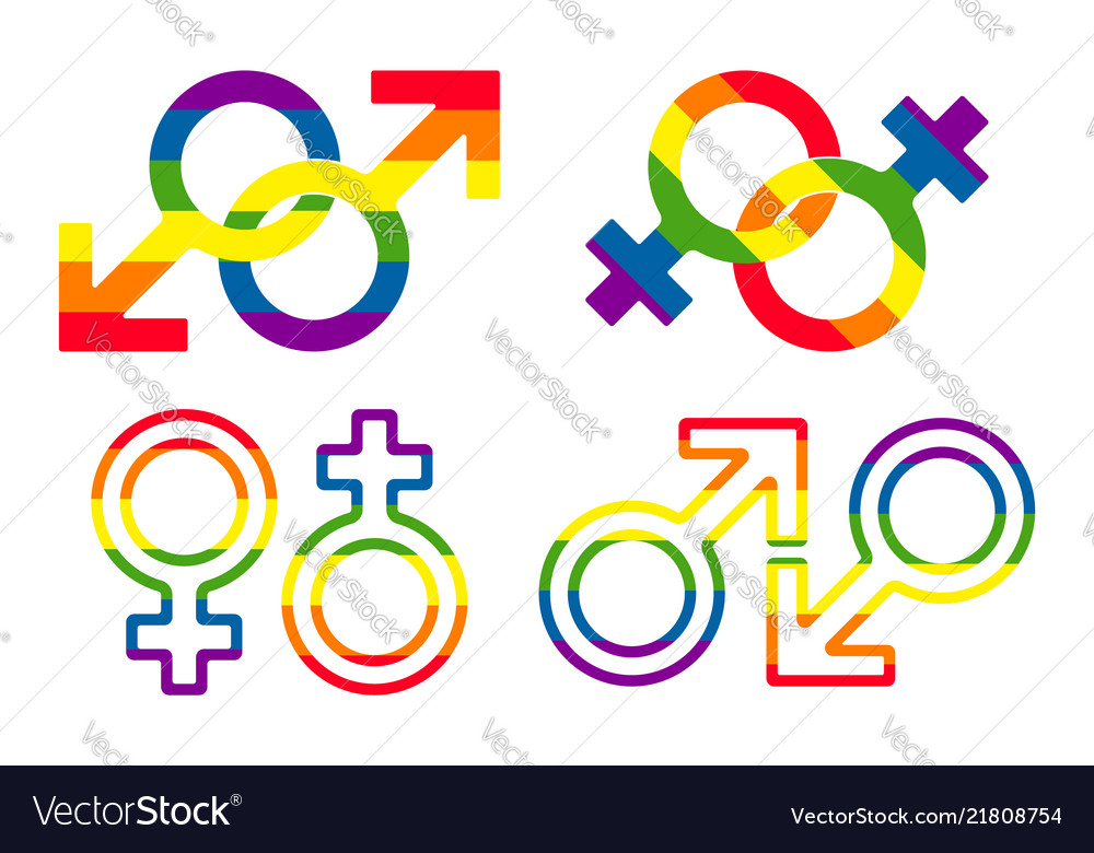 Gender and lgbt sexual orientation icon set