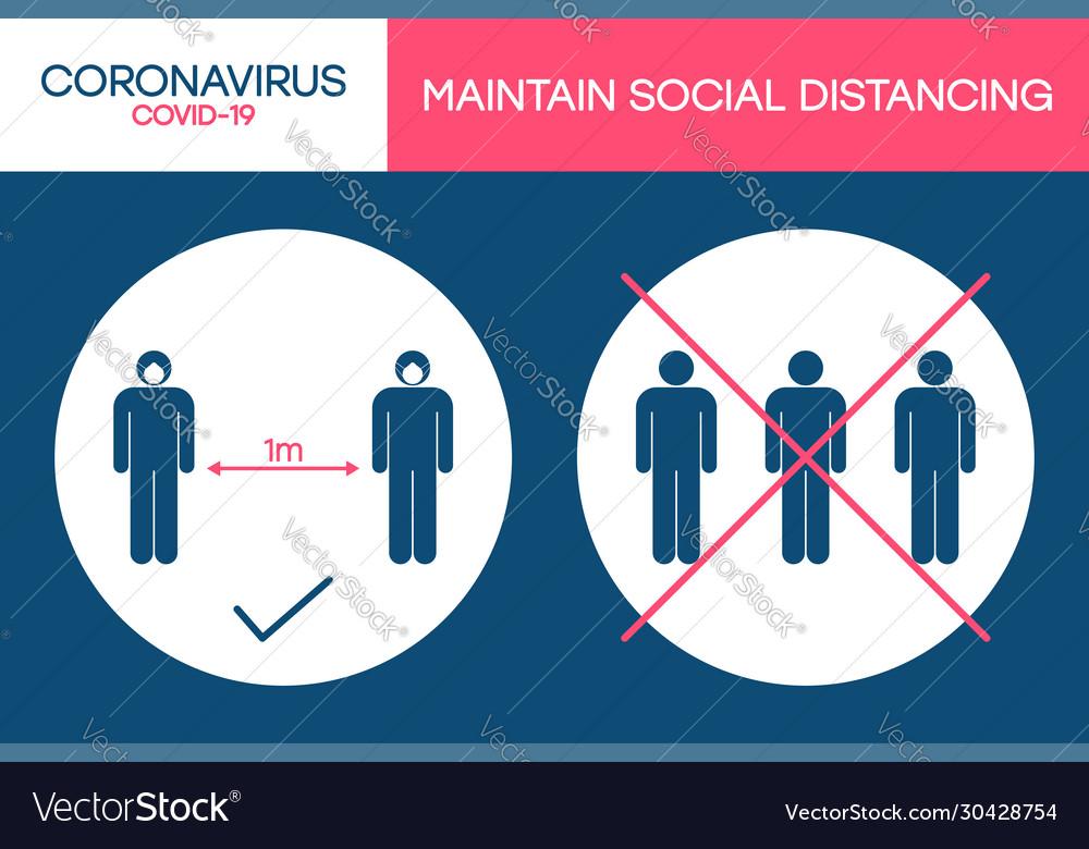 Social distancing 1 meter in public places