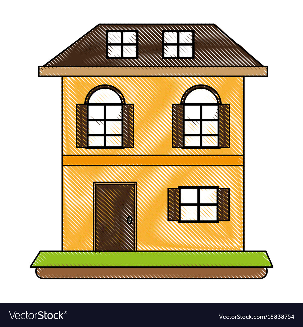 Two Floors House Vector Image